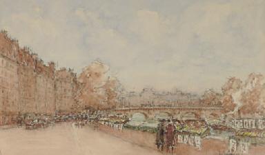 View of the Pont Neuf, Paris;