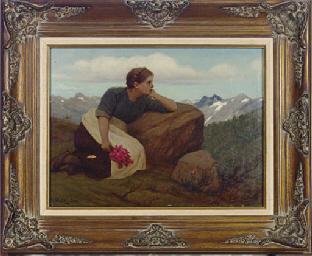 Girl in the Alps