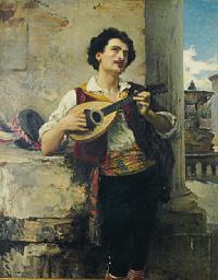 A mandolin player