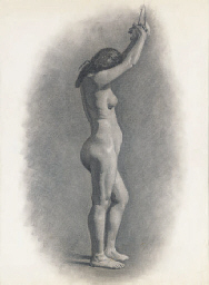 Study of a female nude; togeth