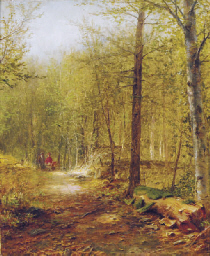 Figures on a path through the