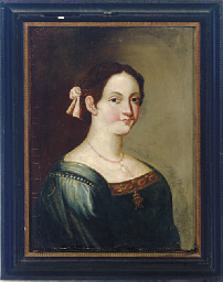 Portrait of a young woman, hal