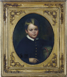 Portrait of a boy; and a compa