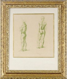 Study of a male nude; and a co