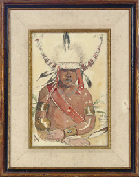 Hopi Indian in ceremonial dres