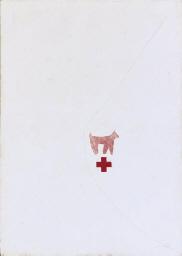 White Ground, Pink Dog, Red Cr