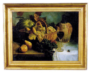 Still life with grapes, pears,