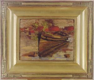 Boat (recto); Landscape (verso