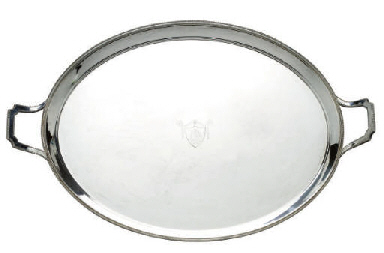AN ENGLISH SILVER-PLATED TWO-H