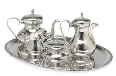 AN ITALIAN SILVER TEA AND COFF