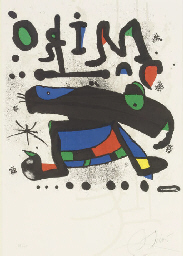 Poster for Miró, Seibu Museum
