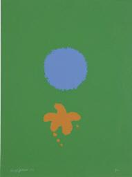 Green Ground, Blue Disk