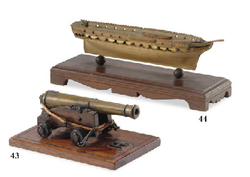 A small model naval cannon