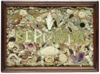 A souvenir shellwork of a visi