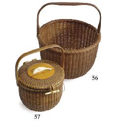 A round lidded basket purse**