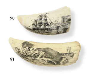 A large 20th century scrimshaw