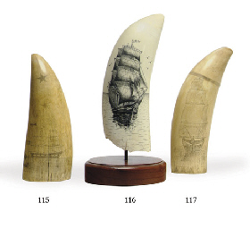 A late 19th century scrimshaw