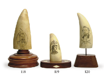A 19th century scrimshaw whale