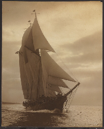A three masted schooner of the