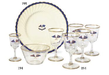 A set of six glasses and a gla