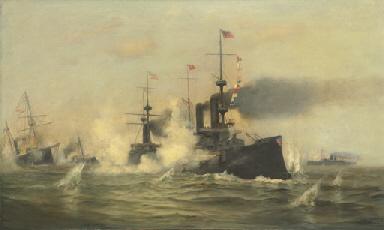 Admiral Dewey's flagship enter