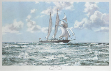 In full sail the training ship