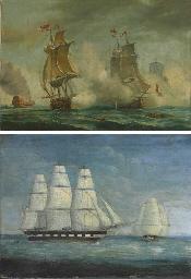 Royal navy ships at sea
