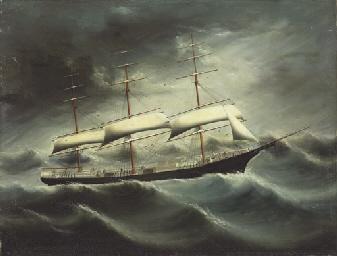 The clipper ship L. Schepp cau