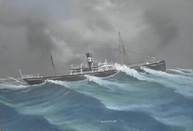 The S.S. Delmar out at sea