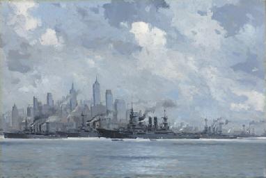 German warships in New York ha