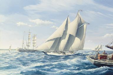 The fishing schooner Titania w