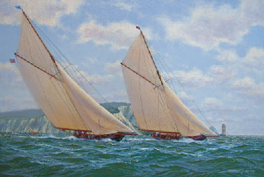 Britannia racing Navahoe in th