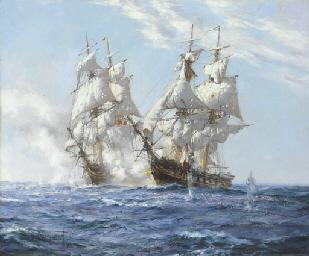 The American brig Argus engagi