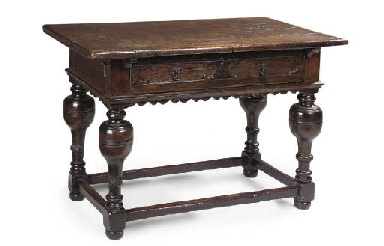 A FLEMISH OAK TABLE