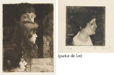 Grand Profil de Femme (Delteil