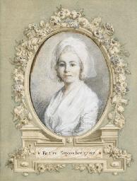 Portrait de femme en buste, co