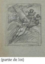 Femme nue entourée de putti ai