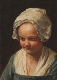 Portrait de jeune fille à la c
