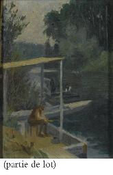 Pêcheurs le long d'un fleuve