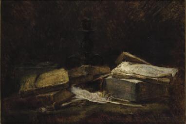 Nature morte aux livres et à l