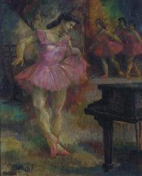 Ballerine devant un piano