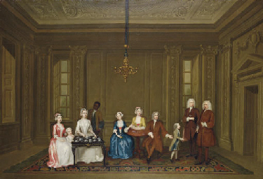Group portrait of a family, po