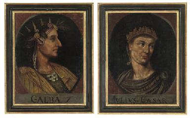 Julius Caesar, in a feigned ov