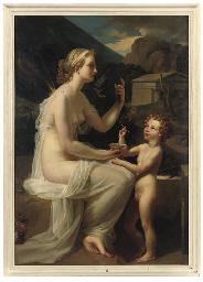 Nymphe et Amour