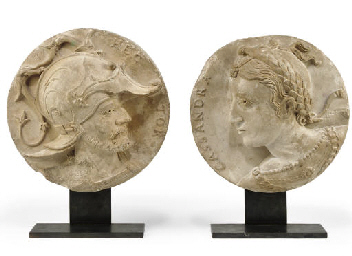 A PAIR OF FRENCH CARVED STONE