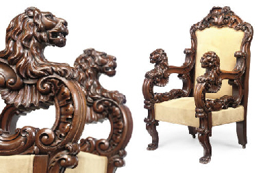 AN IRISH MAHOGANY ARMCHAIR