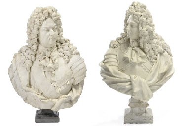 A PAIR OF FRENCH WHITE MARBLE