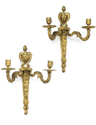 A PAIR OF LOUIS XVI GILT BRONZ