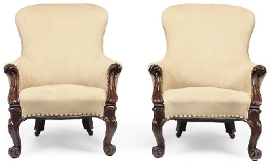 A PAIR OF VICTORIAN MAHOGANY E