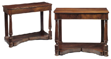 A PAIR OF BIEDERMEIER MAHOGANY